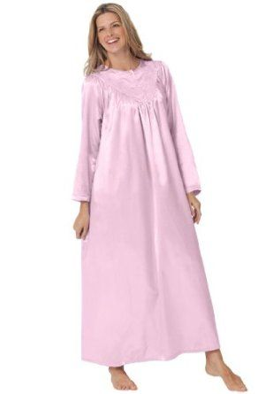 Only Necessities Plus Size Petite Brushed Back Satin Gown (Pink,4X) Only Necessities. $19.99