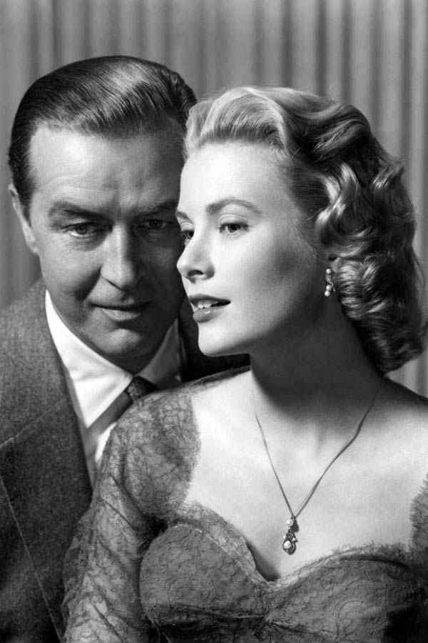 With Ray Milland in DIAL M FOR MURDER (1954).