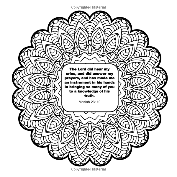 Amazon.com: A LDS Coloring Book for Adults- Mandalas and