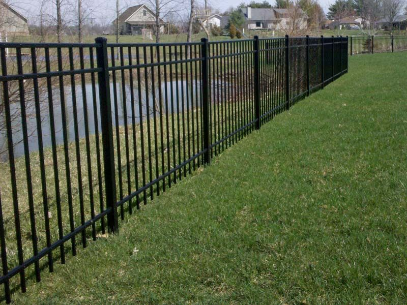 Backyard Fencing For Dogs Aluminum Fencing Landscaping Services Columbus  Ohio Commercial Decor Property