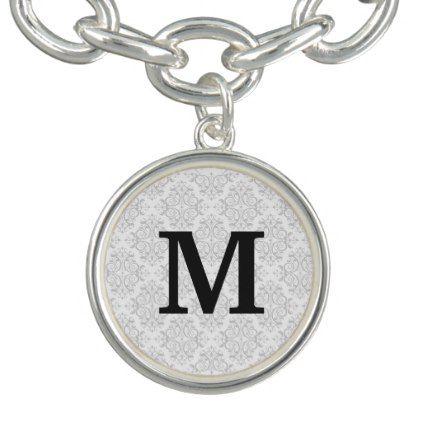 #initial - #Monogram Damask Bracelets