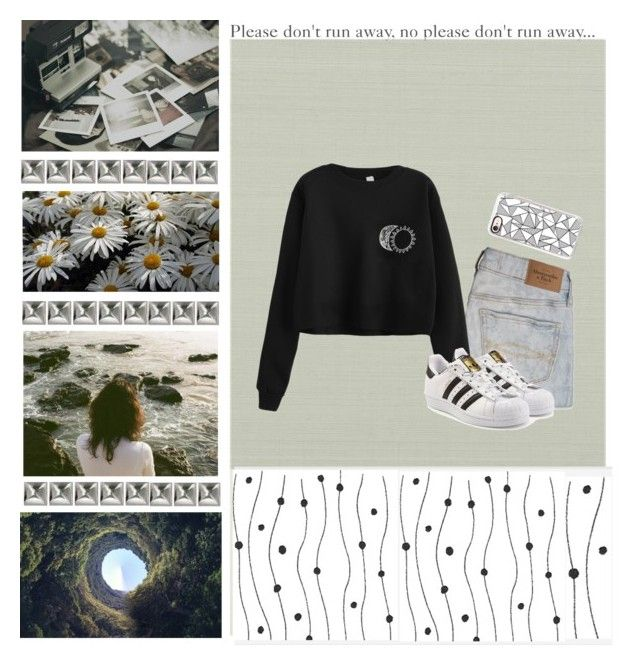 """""""Do you ever feel like you're drowning in a pool of memories?"""" by sydannu0803 ❤ liked on Polyvore featuring Polaroid, Ballard Designs, Abercrombie & Fitch, adidas Originals and Casetify"""