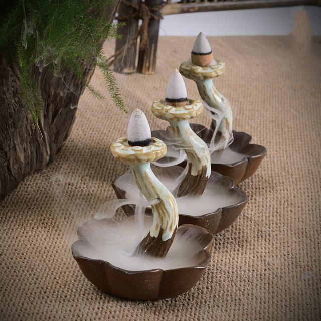 Ceramic Mushroom Backflow Incense Burner