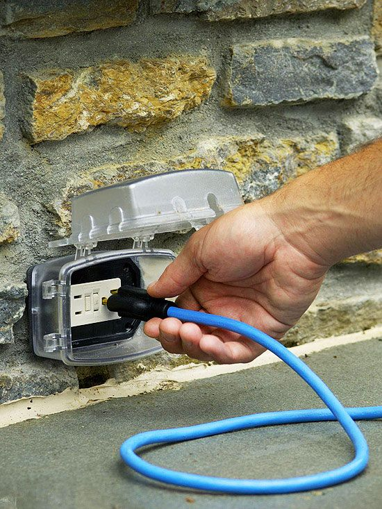 provide built-in outlets so you can run additional appliances such as a  blender, electric mixer, or a radio  it will make your outdoor kitchen