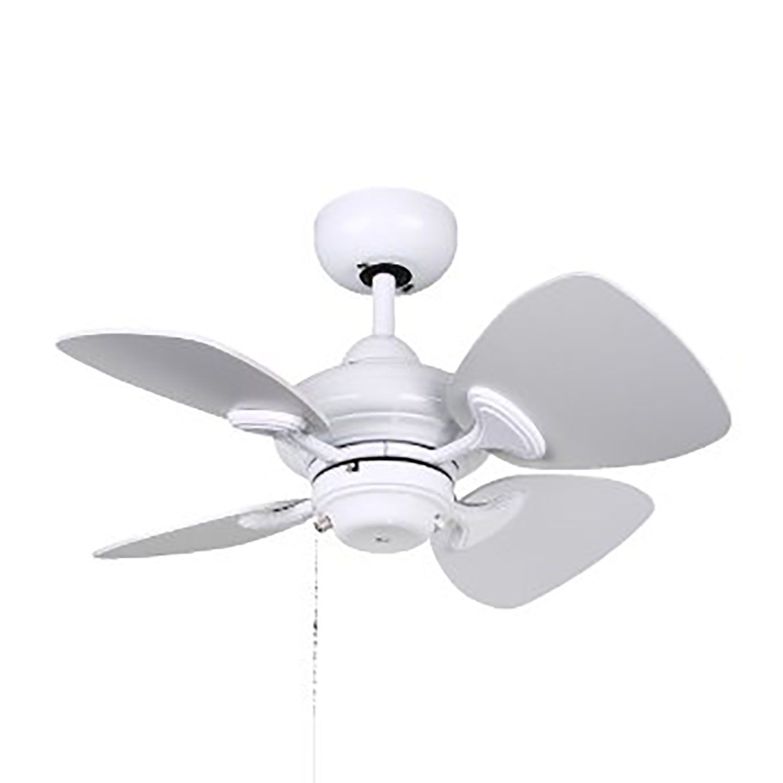 Kendal Lighting Ac16324 Wh 24 Inch 4 Blade Ceiling Fan Black Ceiling Fan White Ceiling Fan 24 inch ceiling fan