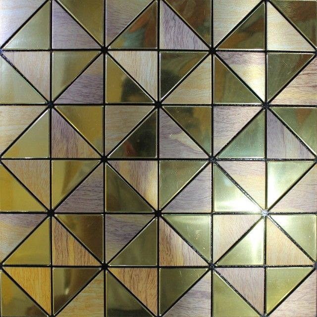 1. Start the automatic high-speed stamping presses processing aluminum plate; 2. Select aluminum plate according to the color and surface craft ; 3. Stamping mosaic particles(rectangular, circular, polygonal shape, etc.) by using the mosaic pattern. 4. Set type by using the mosaic porcelain to choose the particles,and the pattern of mosaic is ever-changing 5. Pasting the Double sided Adhesive on the backside of the chips of mosaic,and then pressed by packaging machine.