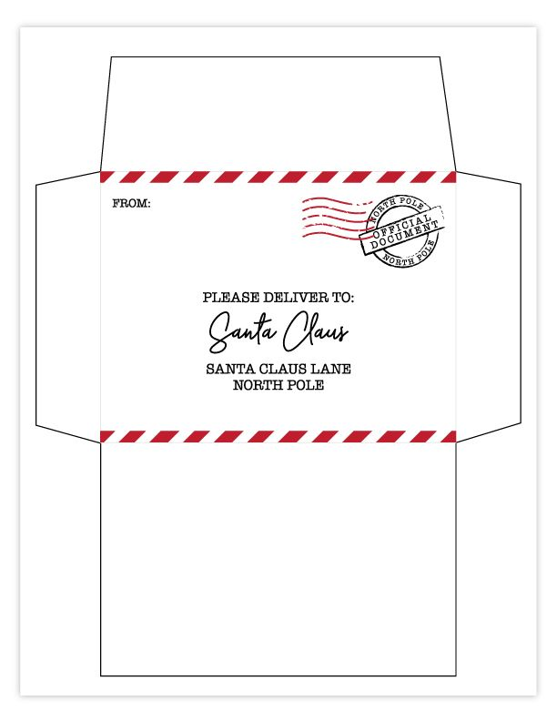 Free Printable Letter To Santa With Matching Printable Envelope Lettering Christmas List Printable Printable Envelope