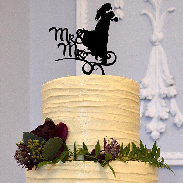 Romantic Mr Mrs Wedding Cake Topper Decoration (Beautiful Bride ...
