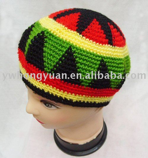 How to Crochet a reggae rasta style slouchy hat « Knitting Crochet ...