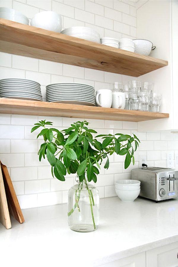 Fliesen Für Küche   KITCHEN   Pinterest   Open Shelving, Woods And Kitchens