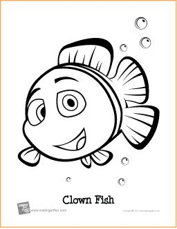 Clown Fish Free Printable Coloring Page Music Theory Worksheets Clown Fish Printables Free Kids
