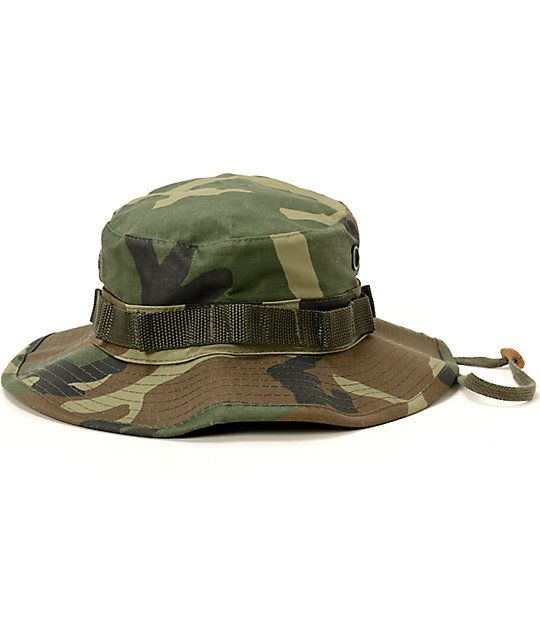 94eb9620759 Rothco Boonie Woodland Camo Bucket Hat at Zumiez   PDP