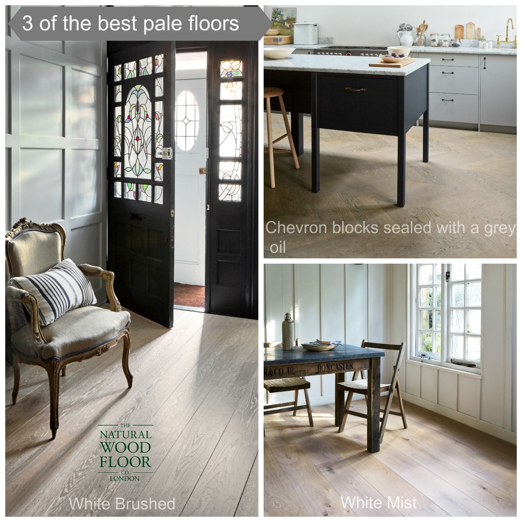 3 of the best... pale wooden floors. Which one is your