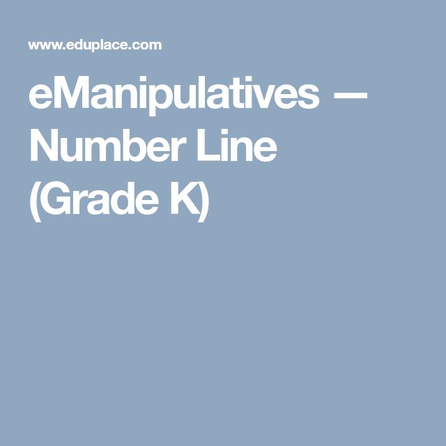 eManipulatives — Number Line (Grade K) | Maths | Pinterest | Number ...
