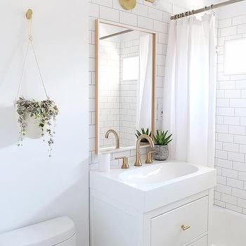 Ikea Yddingen Washstand With Ikea Skogsvag Mirror Small White Bathrooms House Bathroom Designs Tiny House Bathroom