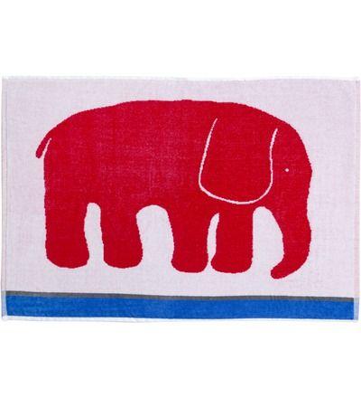 elefanttipyyhe punainen tai keltainen 50x70 9,50 e