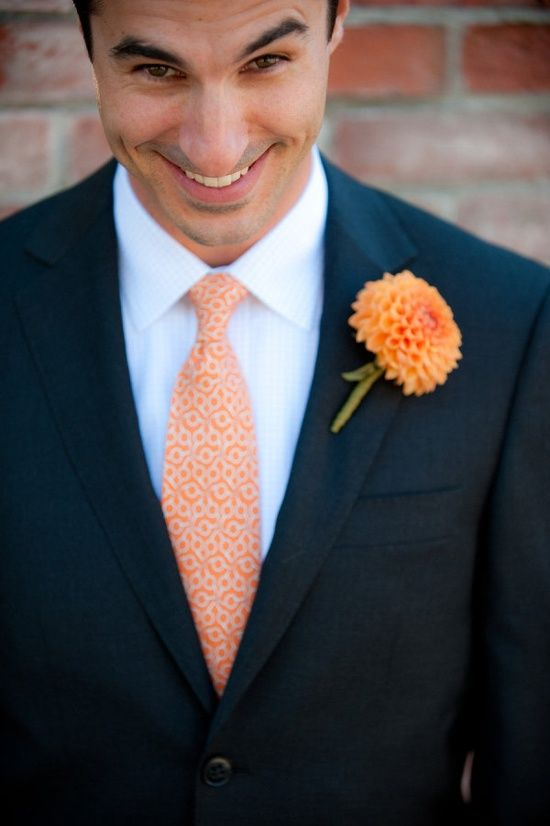 Orange Tie Navy Suit Google Search