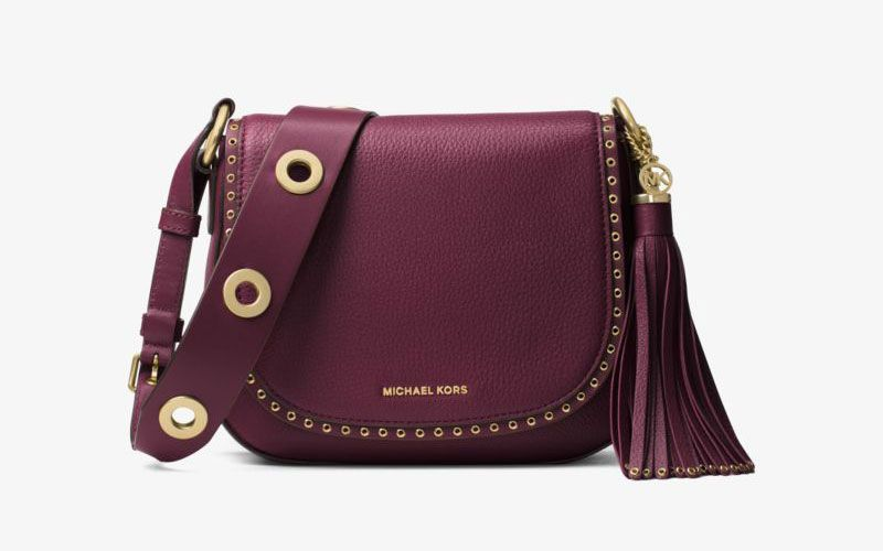 58477b4d4cee Solange Knowles, Nina Agdal Hit the Streets for Michael Kors Campaign. MICHAEL  Michael Kors Brooklyn Large Grommet Leather Feed Bag