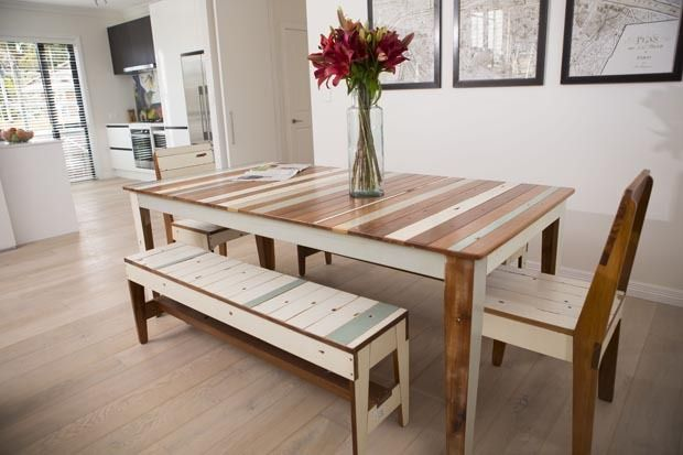Weatherboard Dining Meeting Table From Rekindle Who Are Salvaging Native Timber Christchurch Demolitions And Crafting It Into Beautiful Furniture