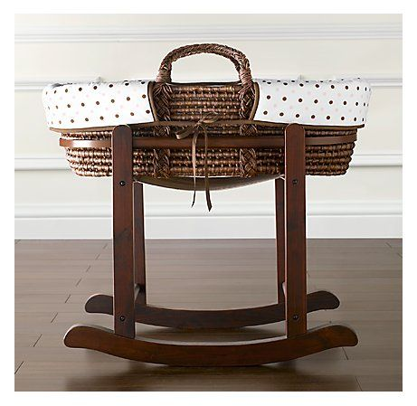 Organic gender neutral moses basket with rocking stand: One of the ...