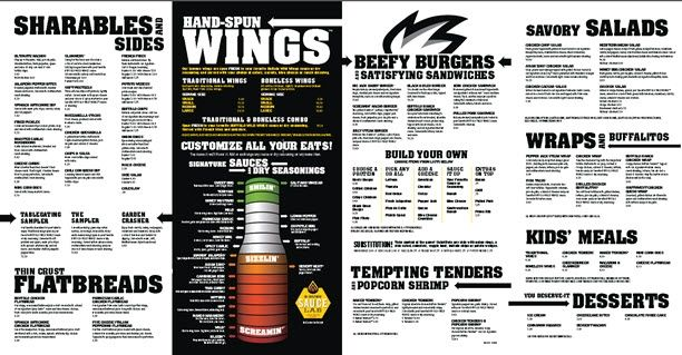 photograph relating to Buffalo Wild Wings Printable Menu identify buffalo wild wings menu - Google Look Menu Layouts Wild