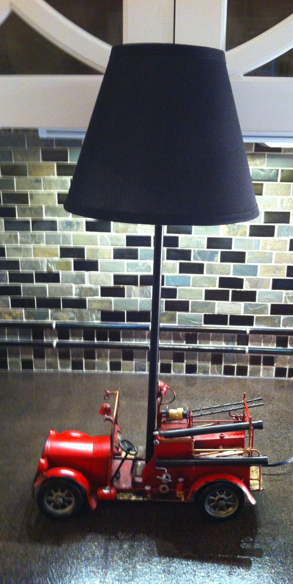 Elegant Fire Truck Lamp   @cuckoolandcom   Unique Gift Shop #dreamkidsbedroom  #competition