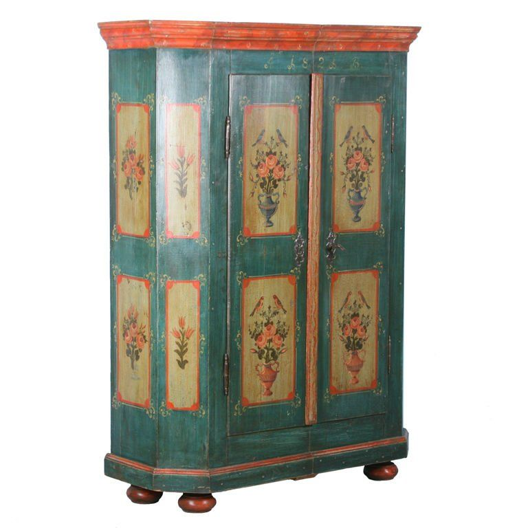 Superbe View This Item And Discover Similar Wardrobes And Armoires For Sale At    Antique German Hand Painted Armoire Dated This Amazing German Armoire  Boasts Superb ...