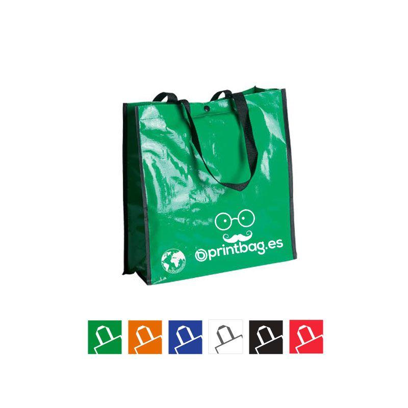 3af06afe4 Venta de bolsas para la compra reutilizables verdes impresas con tu logo