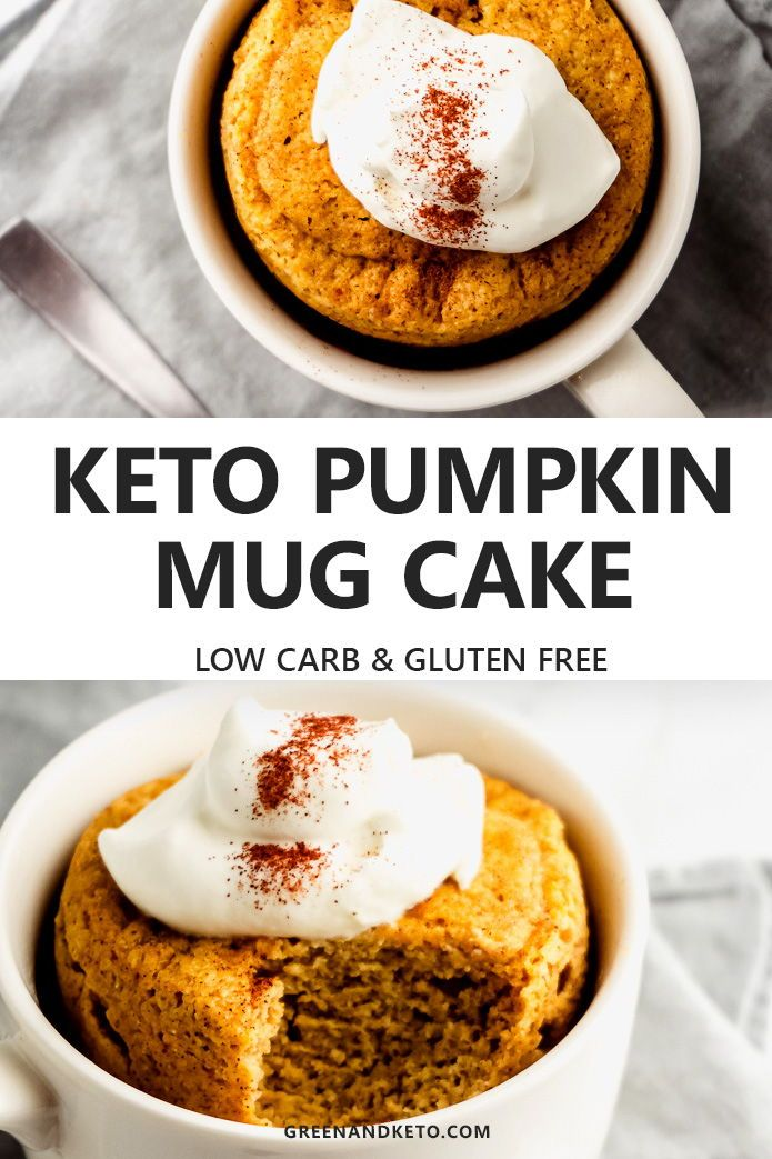 Keto Pumpkin Mug Cake #proteinmugcakes