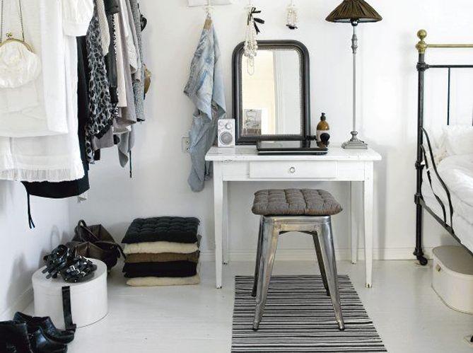 Un coin beauté pour être la plus belle miroir blanc
