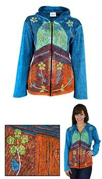This is not a hippie clothes site but they sell some really cool jackets.  100% cotton, too!   <3