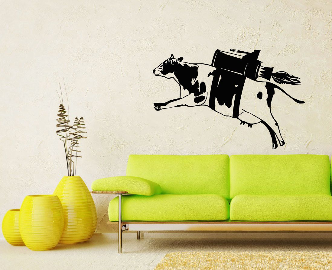 Cow Decal Milk Funny Fly Animal Wall Decals от SuperVinylDecal ...