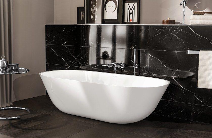 Freestanding Quaryl Bathtub Theano Quaryl Bathtub By Villeroy Boch Bathtub Bathroom Design Bathroom Showrooms