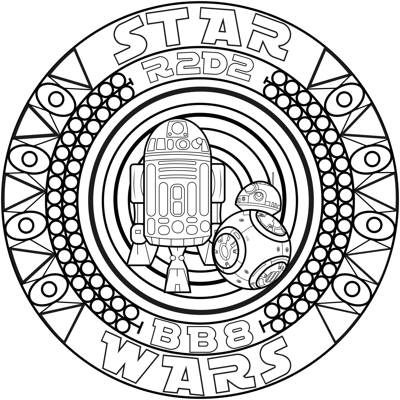 A mandala inspired by Star Wars