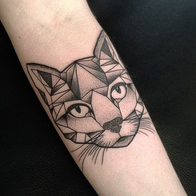 aston reynolds on instagram geometric cat tattoo from the other day tattoos pinterest. Black Bedroom Furniture Sets. Home Design Ideas