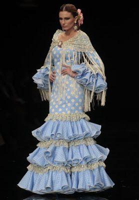 ZINGS Delantales de Cocina Vestido de Flamenca Azul