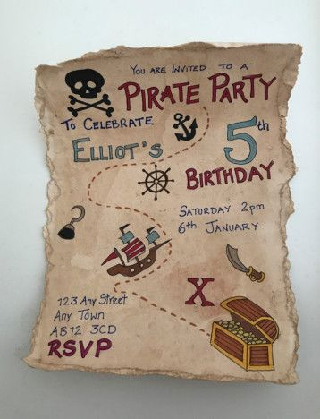Photo of Pirate Party Invitations