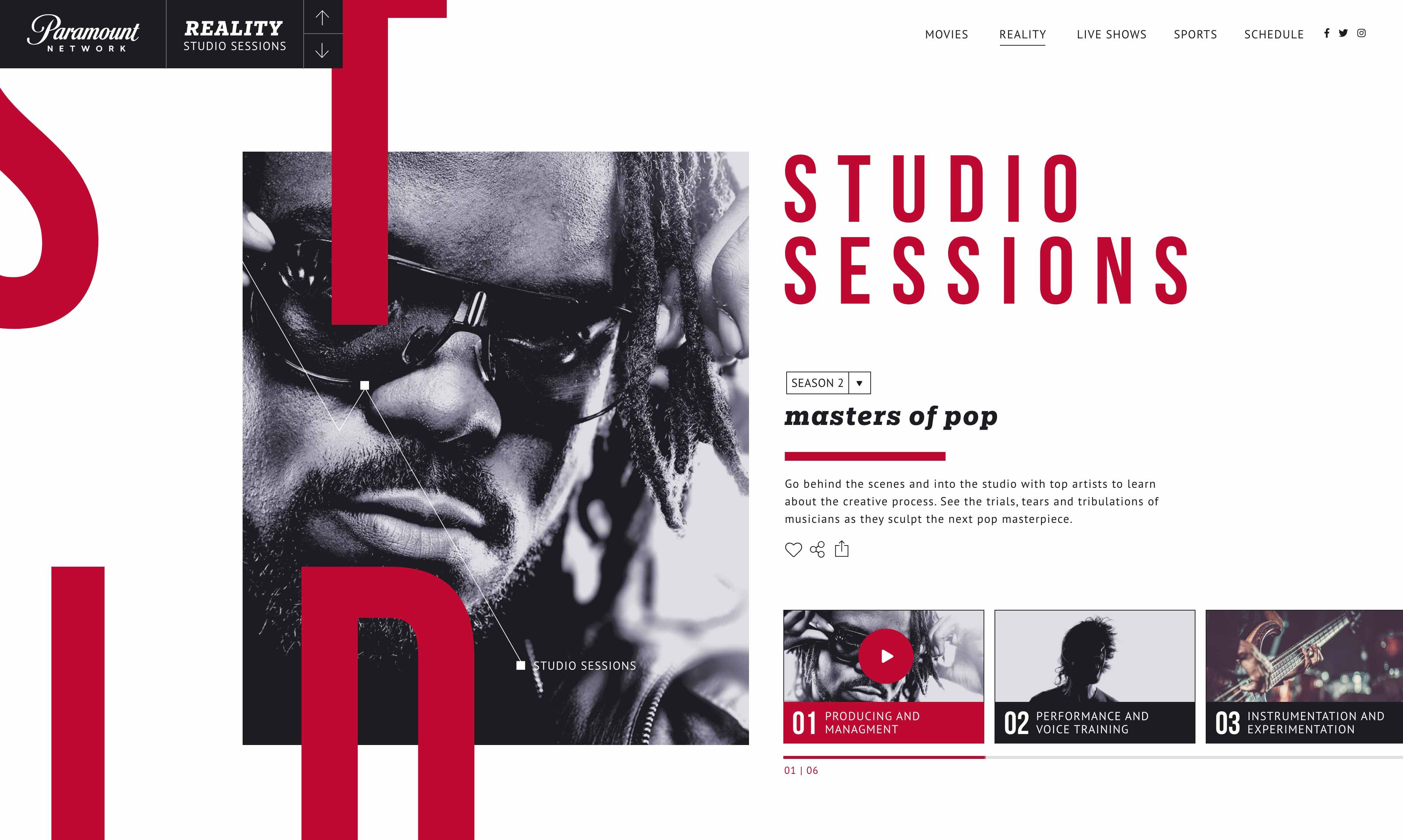 Responsive app design for a music artist in an ipad App