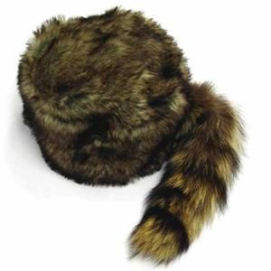 ef4ef26c81c ADULT SIZE RACCOON TAIL HAT fur raccoons animal tails novelty cap NEW HATS  skin