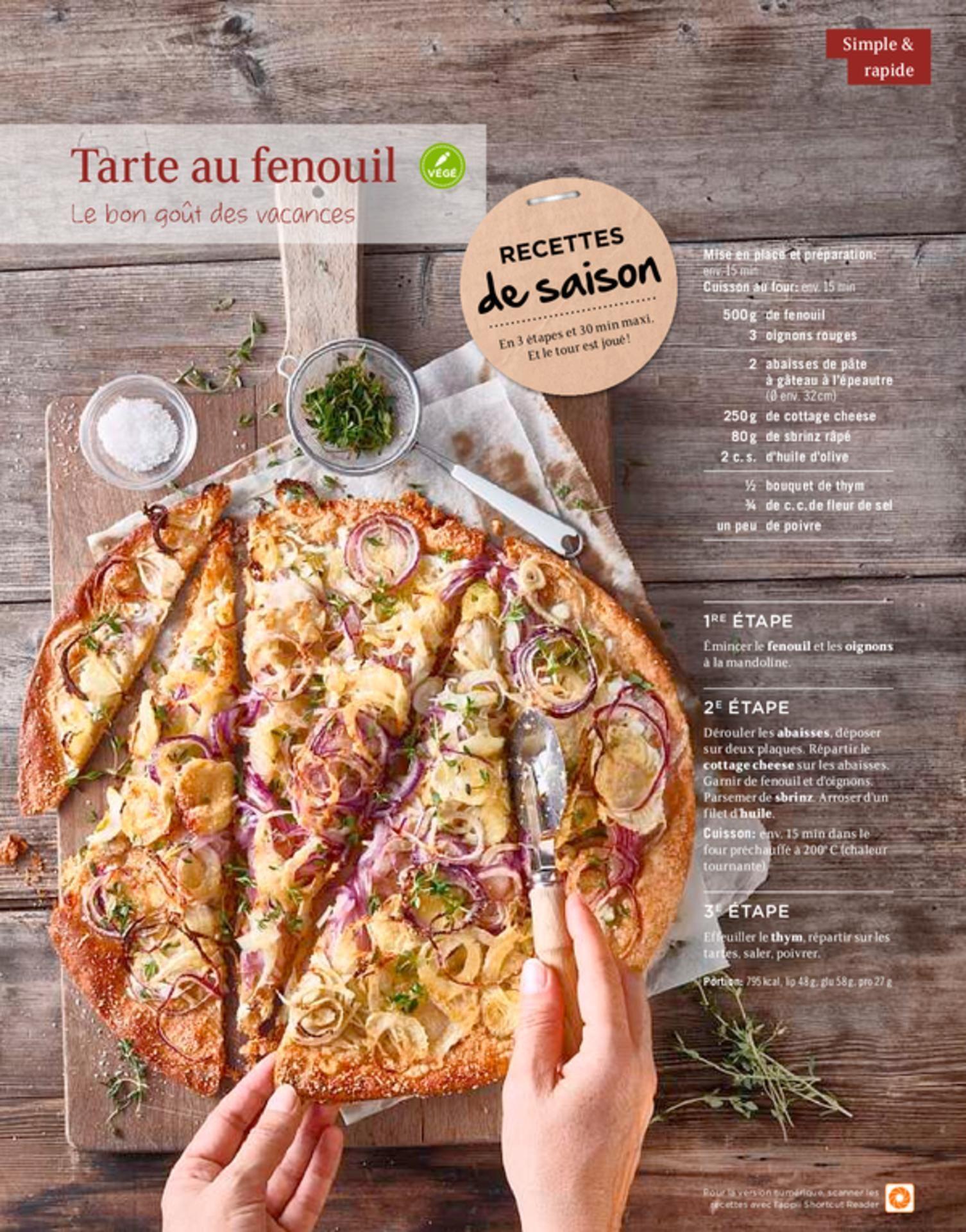 Shortcut - Tarte au fenouil