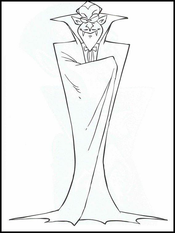Dracula 14 Ausmalbilder für Kinder. Malvorlagen zum ...