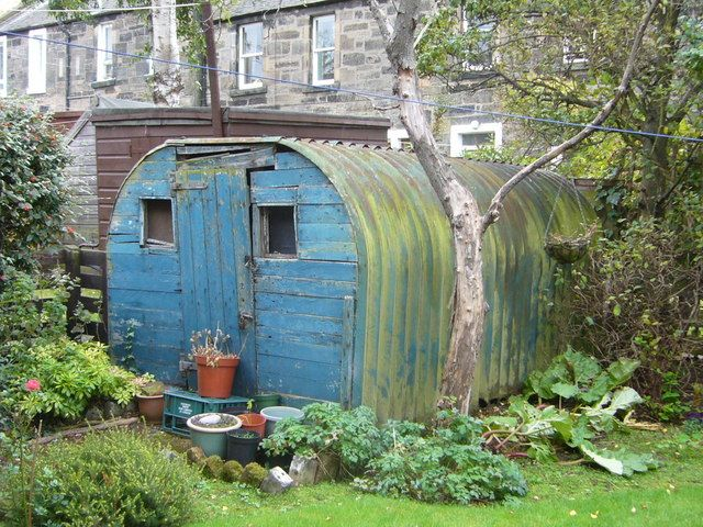 garden shed made from an anderson bomb shelter from ww2 london blitz