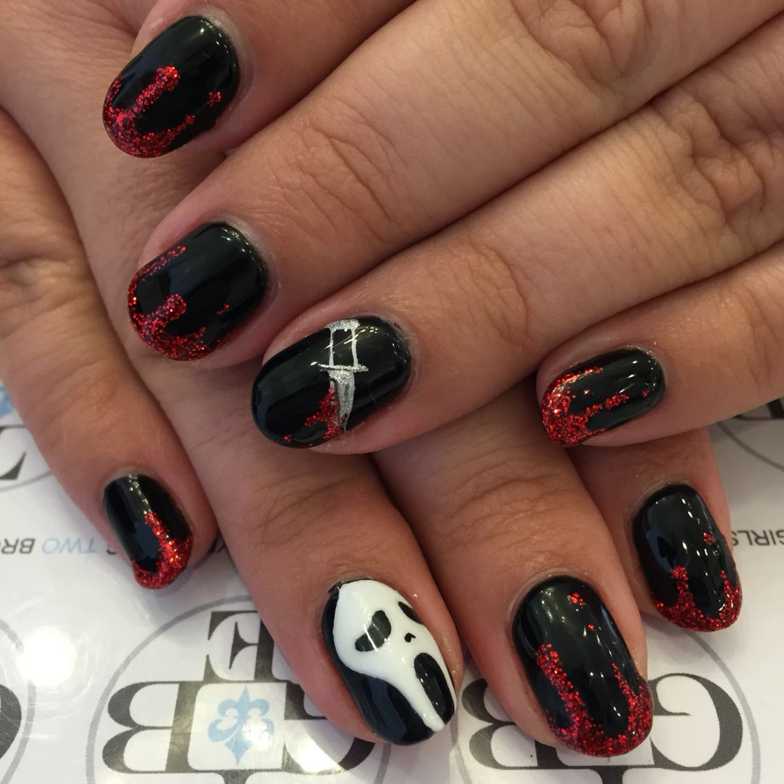 Scream Nail Art Halloween Nails Bloody Dagger Danas Nail Art