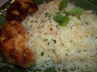 Butter & Garlic Pasta W/ Chicken Cutlets