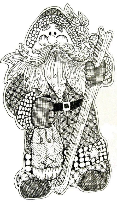 Adult Coloring Pages Free To Print Santa Claus Fun For Kids