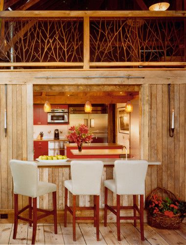 New River Bank Barn traditional dining room