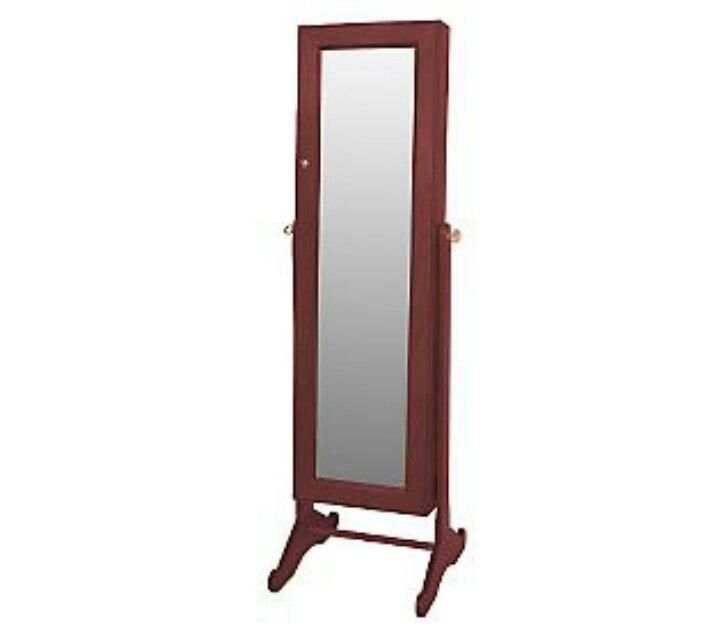 Mirrored jewelry armoire from QVC have it in white fantastic