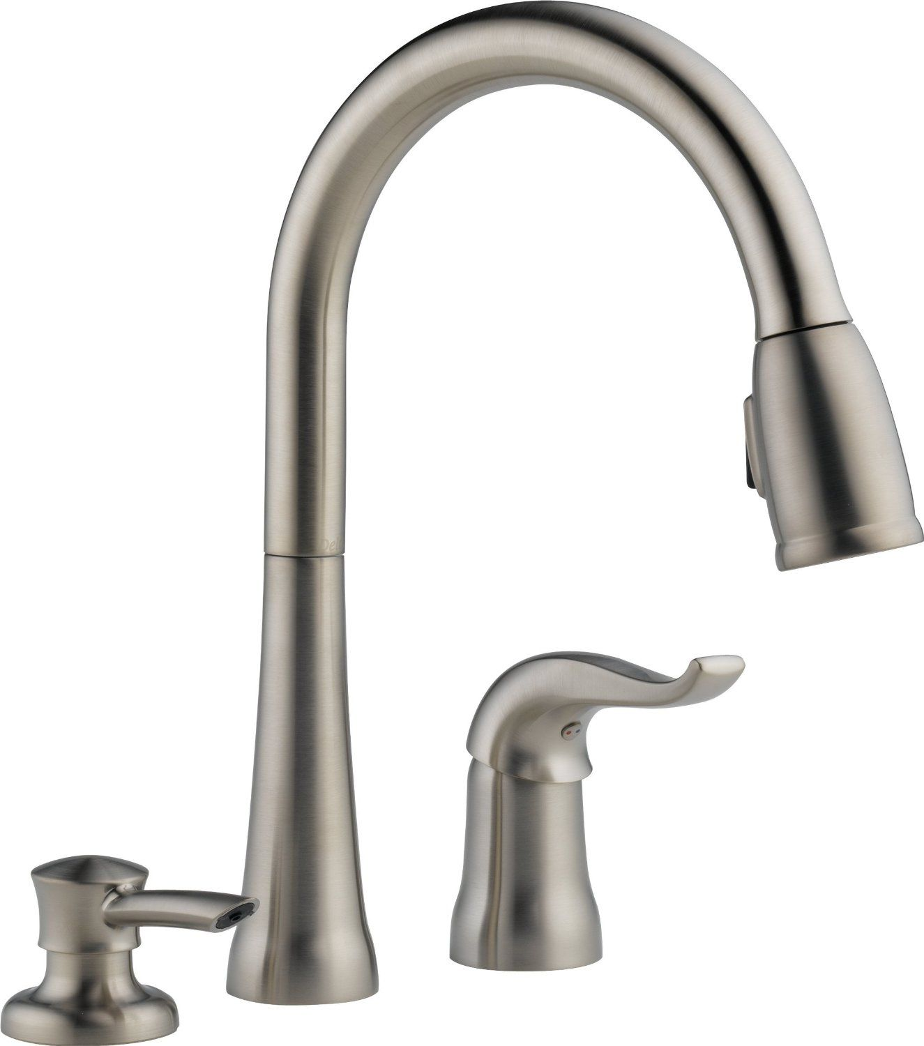 Kate Single Handle Pull Down Kitchen Faucet With Soap Dispenser : Kitchen  Products : Delta Faucet