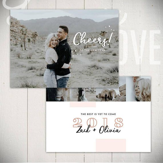 2021 New Years Card Template Cheers A 5x7 New Year Card Etsy New Year Card Card Template Fun Christmas Cards