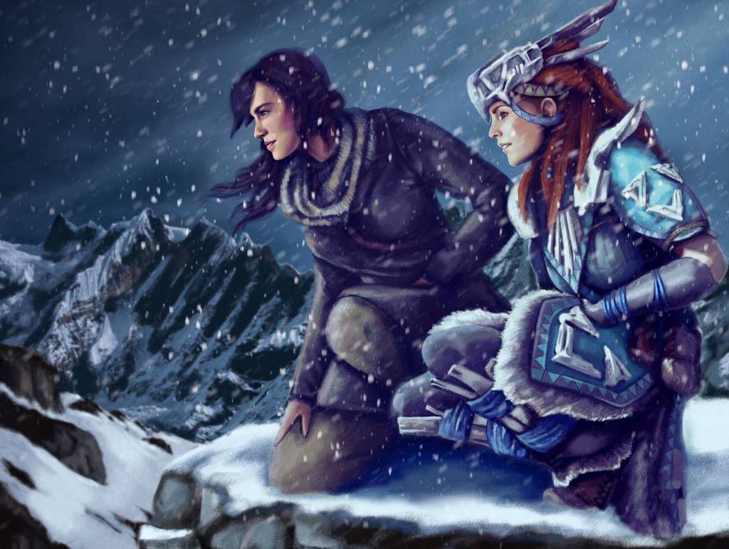 Lara Croft and Aloy by MaggieRoseStudio on DeviantArt